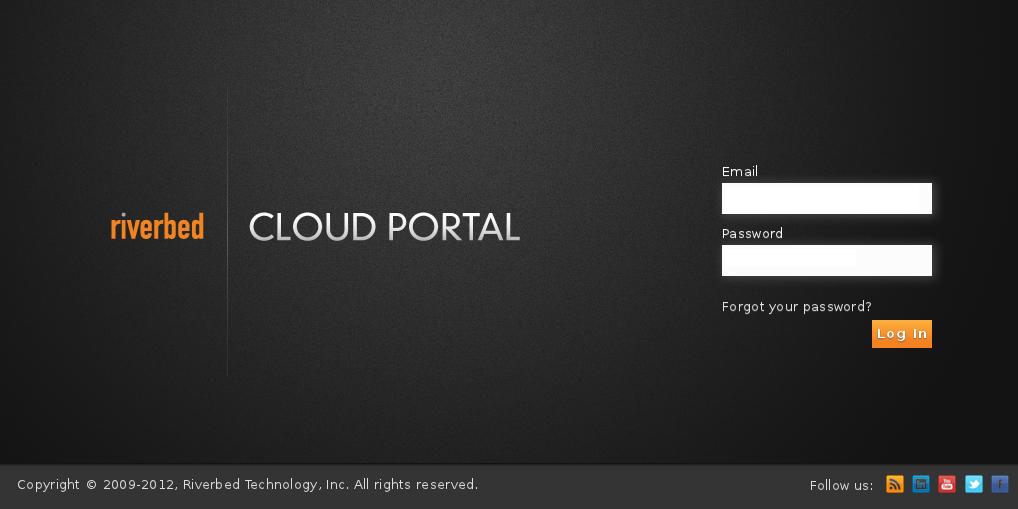 The Riverbed Cloud Portal