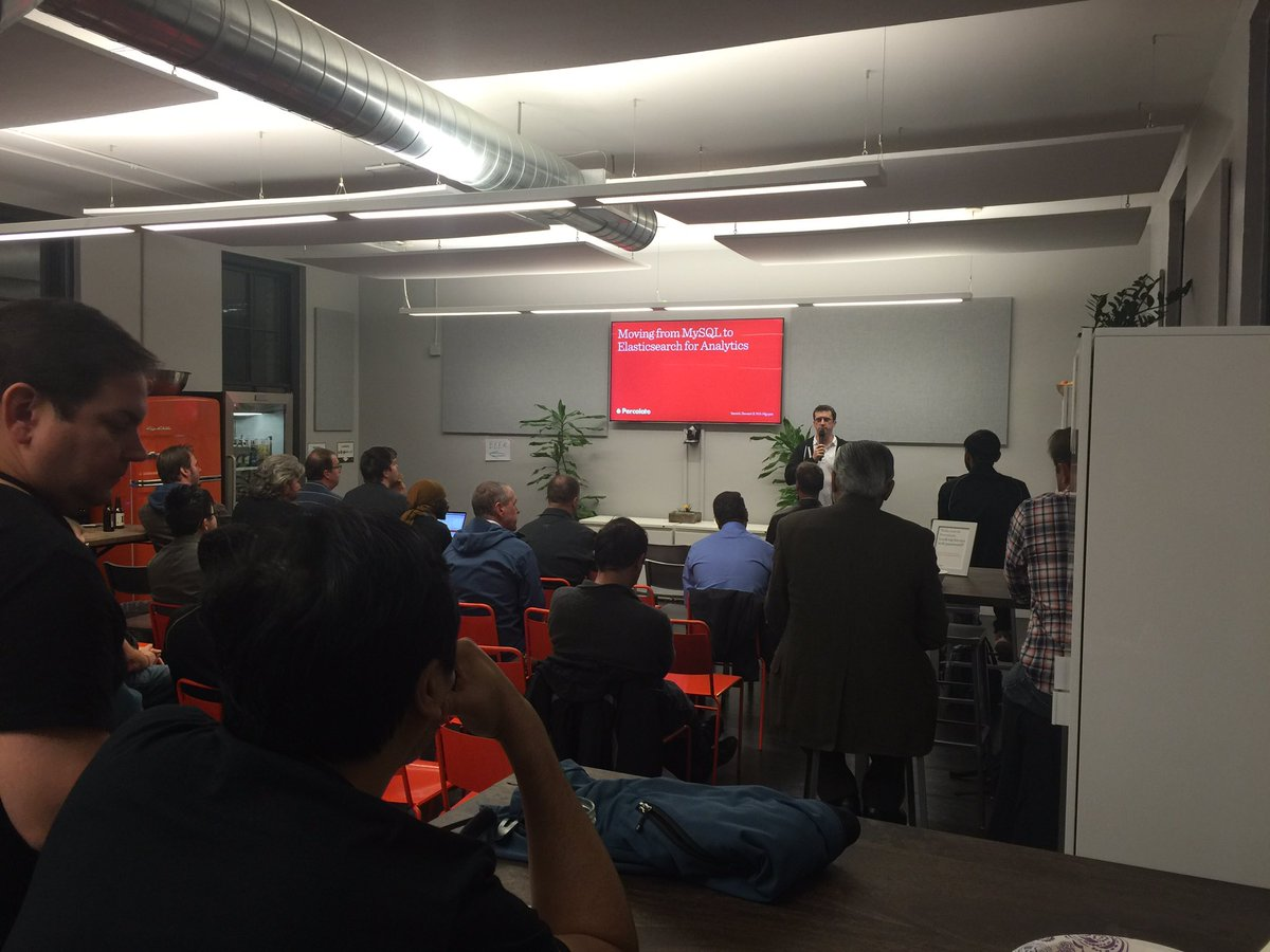 Welcoming everyone to Percolate, and to the November 2016 San Francisco Elasticsearch Meetup.