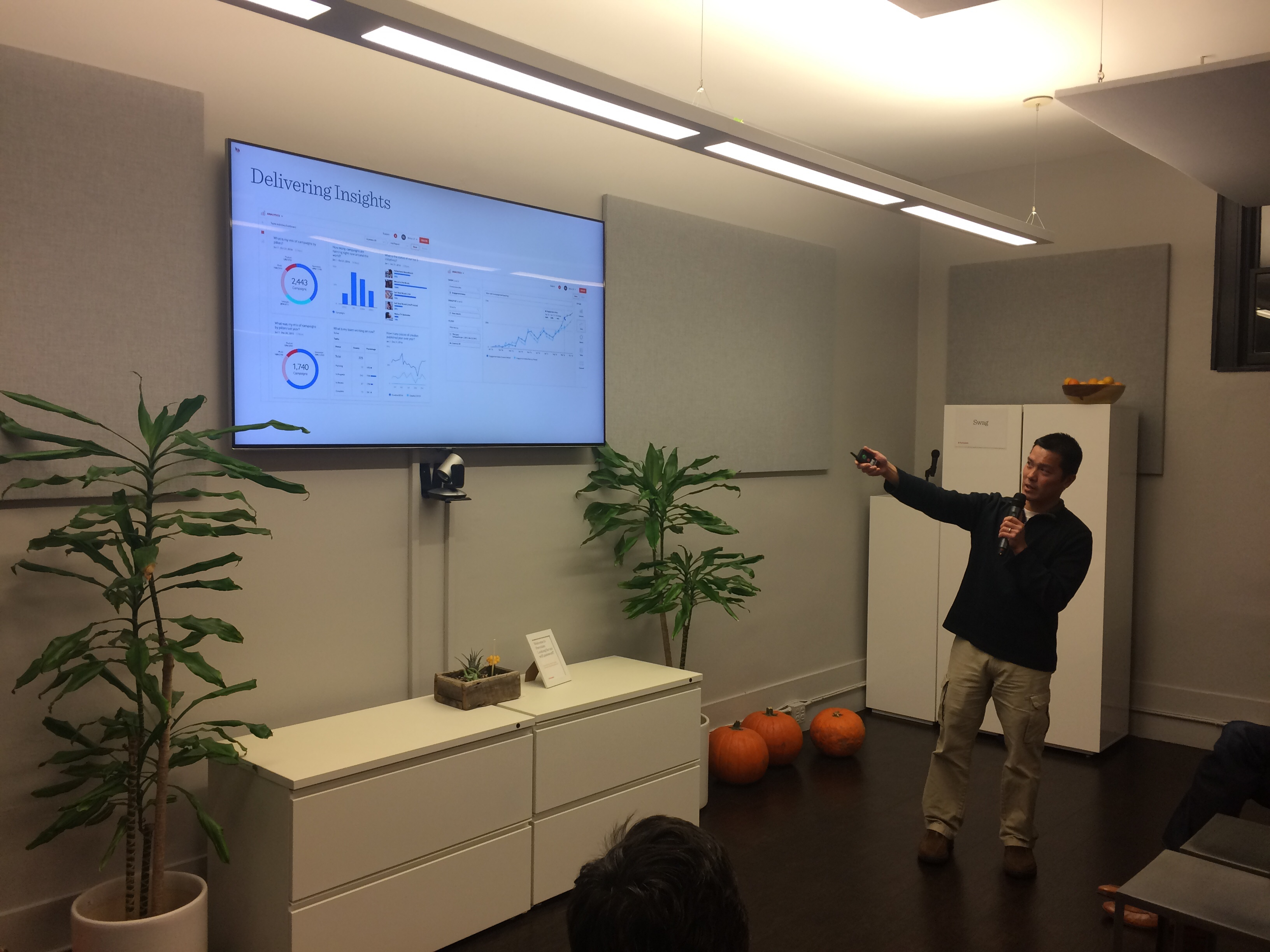 Senior Analytics Engineer Vinh Nguyen discussing the new Analytics platform at Percolate.